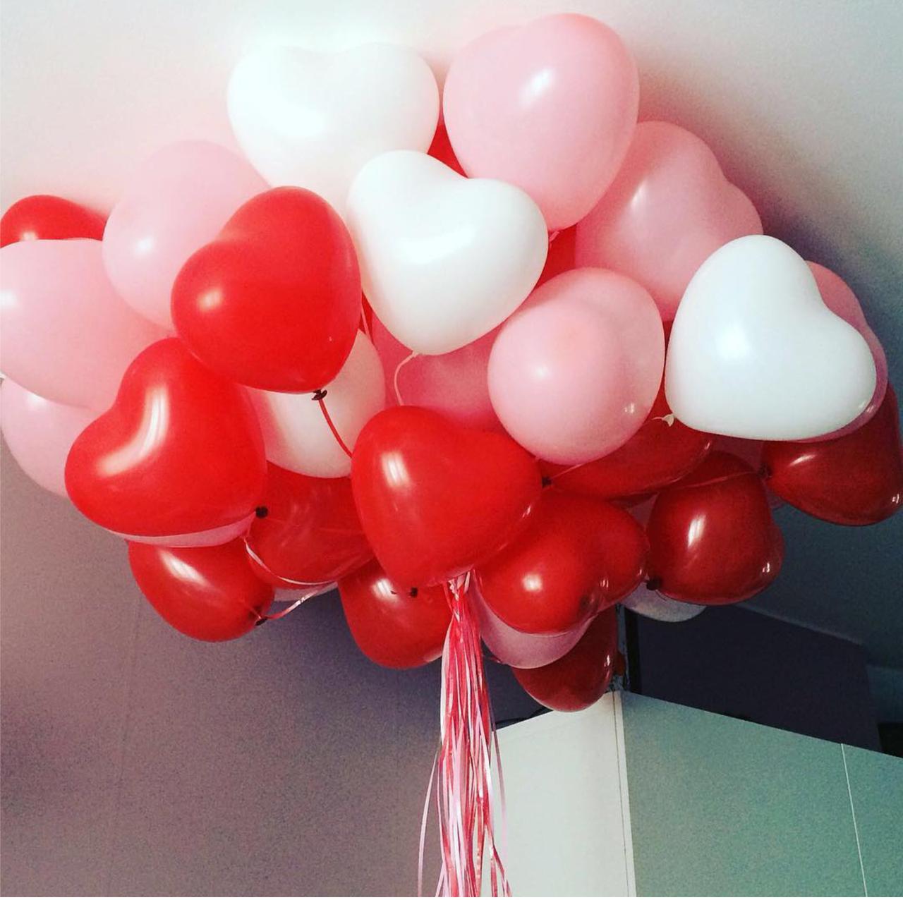 совестно фото воздушных шариков сердец ближе