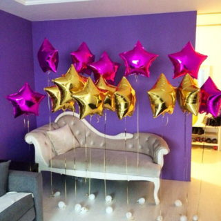 Воздушные шары - «Звёзды», золотые (65 см)