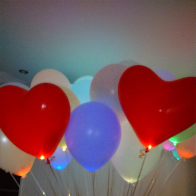 """Шары """"Сердца"""" 12""""/30 см, красные, белые, розовые"""