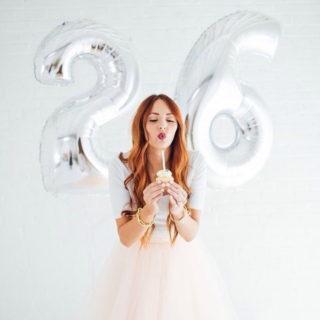 Воздушные шары - «Цифры», серебряные