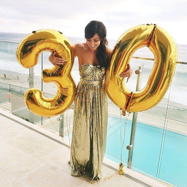 Воздушные шары - «Цифры», золотые