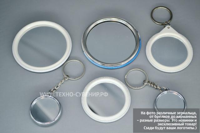Зеркальца-брелки 58 мм (образец заготовки)