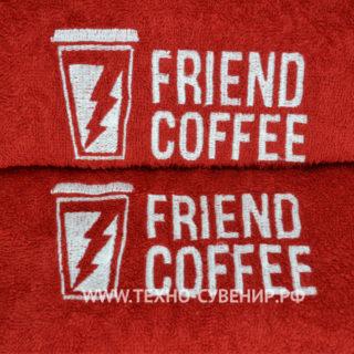 Полотенце с вышитым логотипом