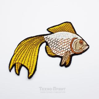 "Шевроны ""золотая рыбка"" с вышивкой ша заказ"
