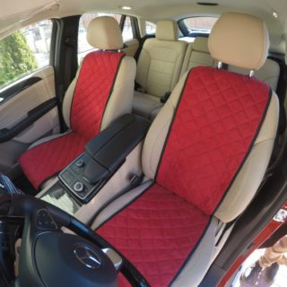 Красная автомобильная накидка из алькантары