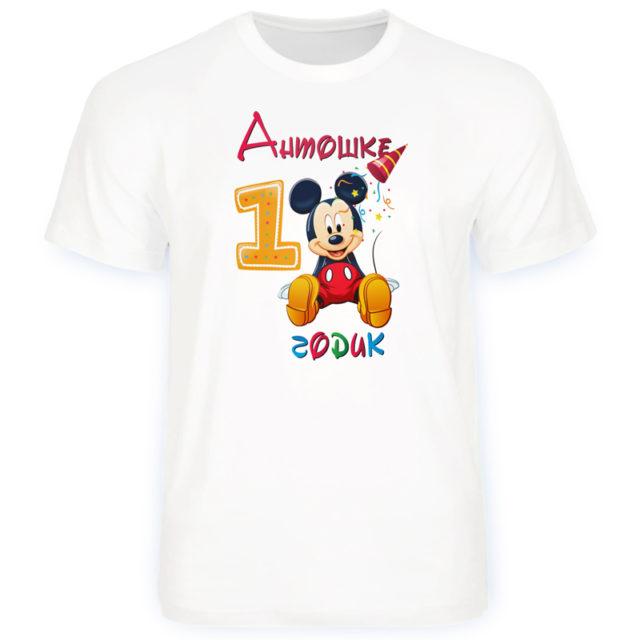 футболка мне один годик микки маус