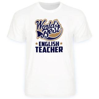 """Футболка с дизайном """"Лучший в мире учитель английского языка"""""""