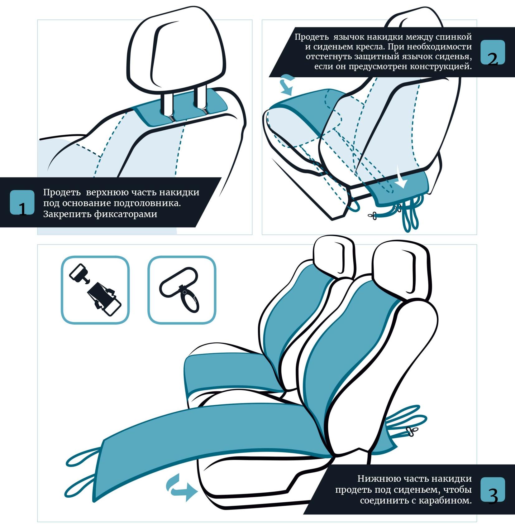 инструкция для автонакидки авточехла с вышивкой из алькантары