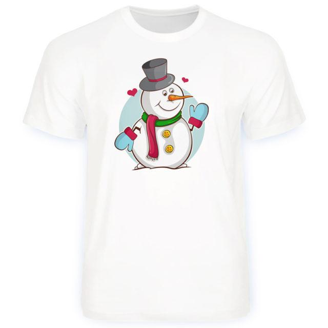 футболка снеговик парная