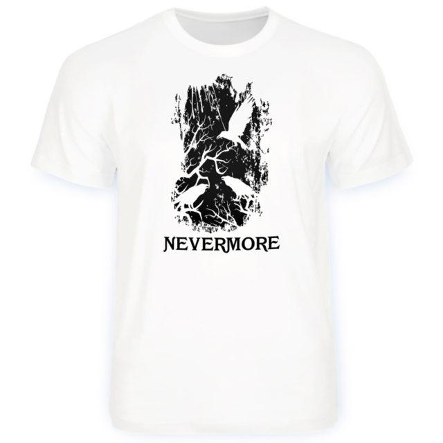 "Футболка ""Nevermore - Эдгар Алан По"" белая"