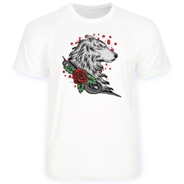 """Футболки """"Волк и розы"""""""