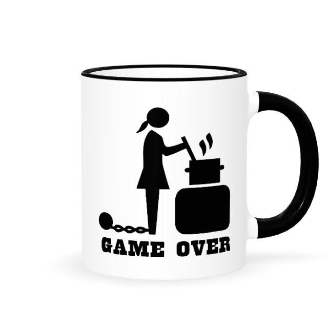 """Кружки парные """"Game over жена"""""""