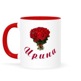 кружка красная розы к 8 марта