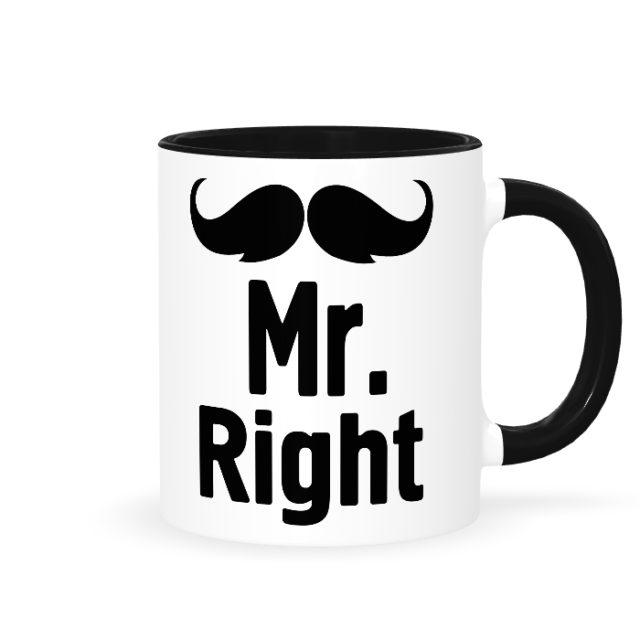 """Кружки парные """"Mr. Right & Mrs. always Right он"""""""