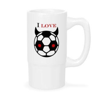 """Кружка пивная """"Я люблю футбол"""""""
