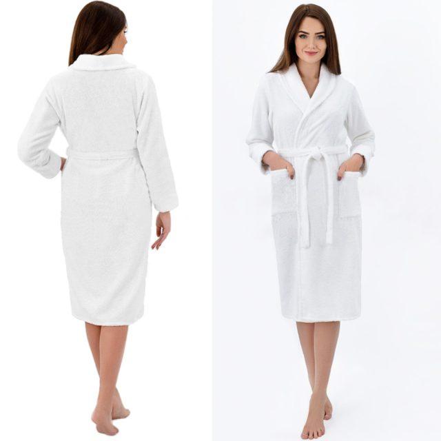 Белый халат для вышивки