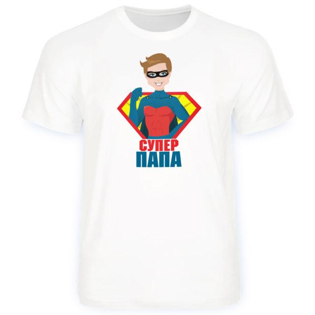 футболка семейная супер папа
