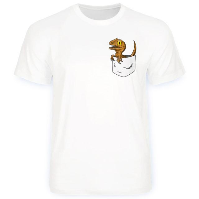 футболка динозавр в кармане