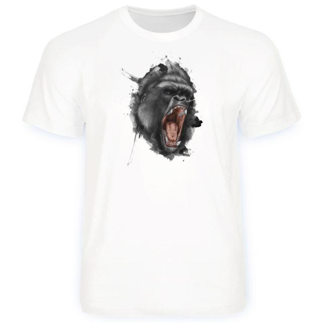 сердитая горилла футболка с дизайном животное