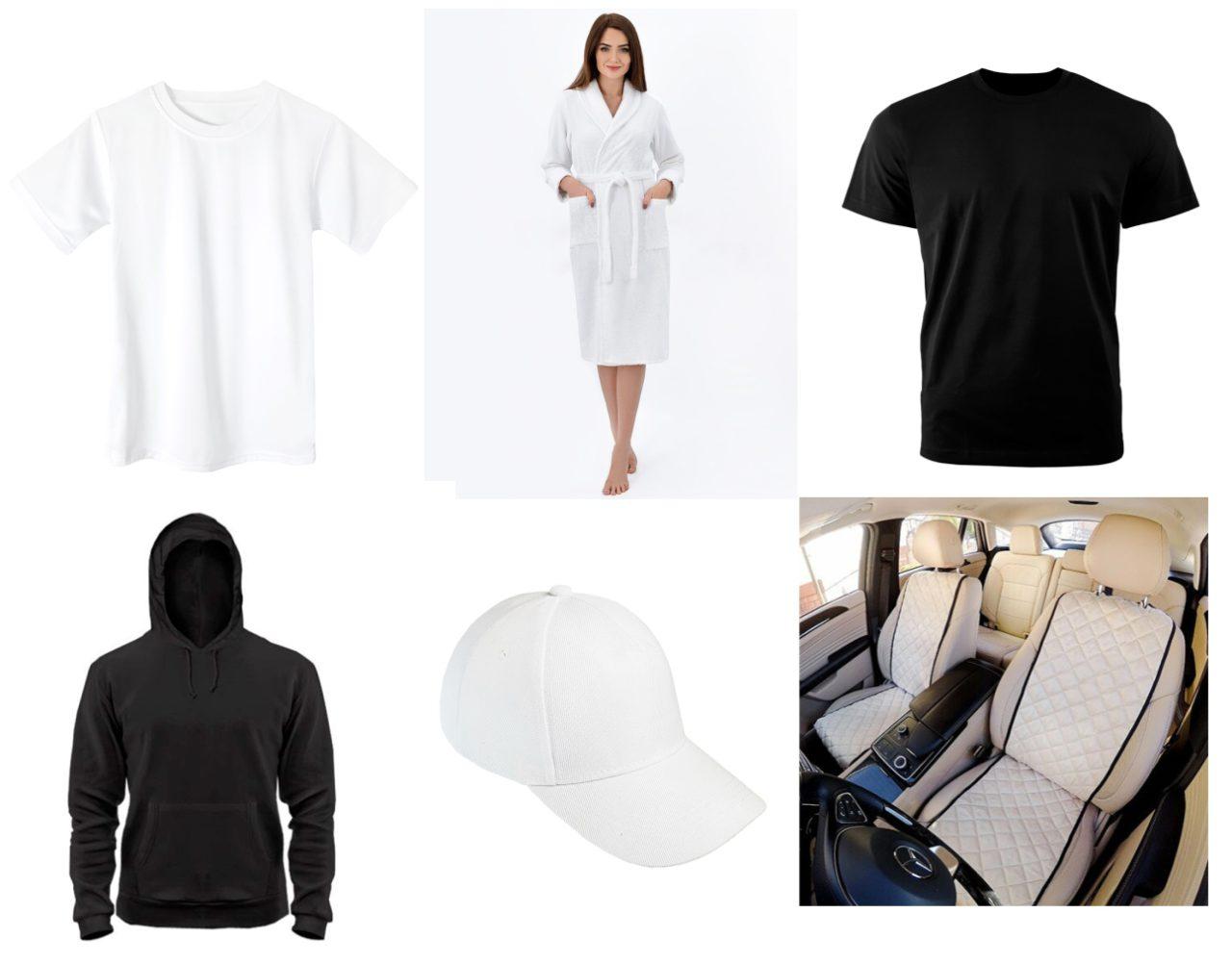 Заготовки одежды для нанесения вышивок
