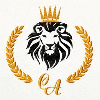 лев с инициалами