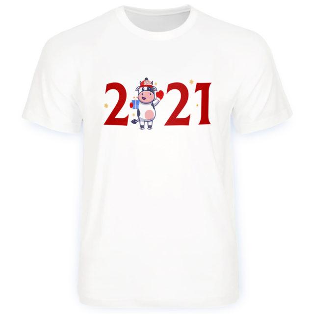 футболка на новый год с символом