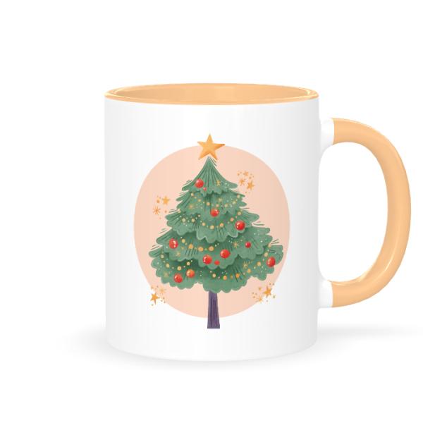кружка с новогодней елкой