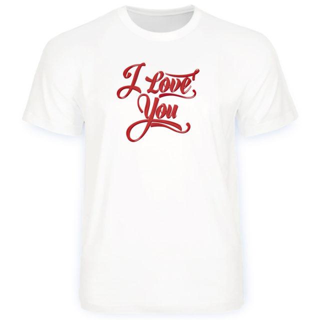 """футболка с красной надписью """"I Love you"""""""
