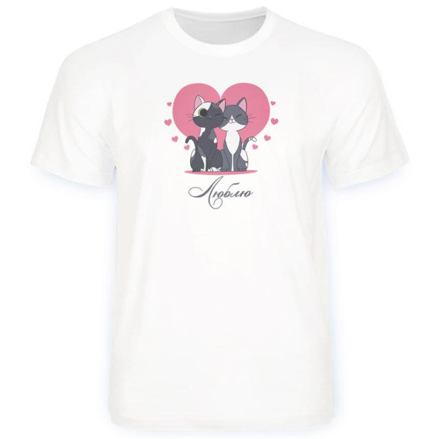 футболка с милыми котами