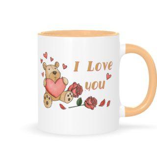 """кружка с медведем """"I love you"""""""